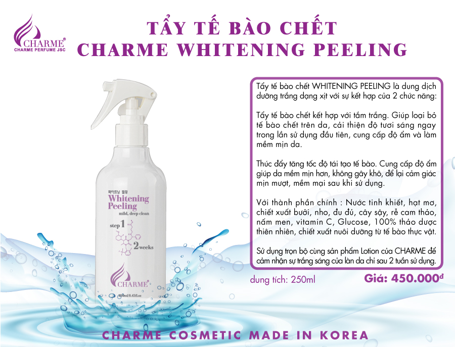 TẨY TẾ BÀO CHẾT CHARME WHITENING PEELING