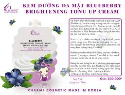 KEM DƯỠNG DA MẶT BLUEBERRY BRIGHTENING TONU UP CREAM