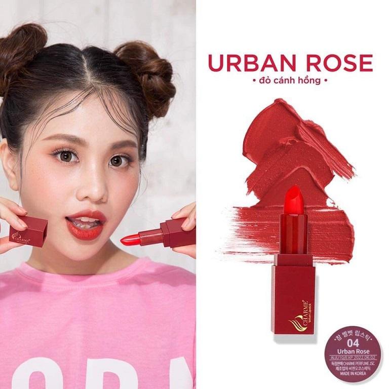 Son Charme số 4: URBAN ROSE - Đỏ Cánh Hồng
