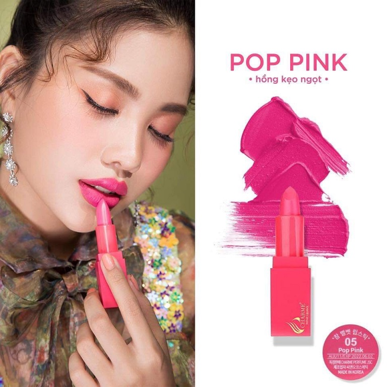 Son Charme số 5: Pop Pink - Hồng Kẹo Ngọt