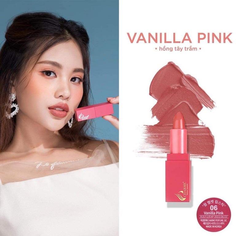 Son Charmesố 6: Vanila Pink- Hồng Tây Trầm