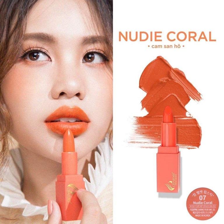 Son Charmesố 7: Nudie Coral - Cam San Hô