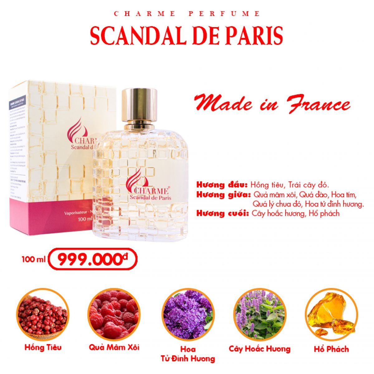 CHARME SCANDAL DE PARIS 100ML