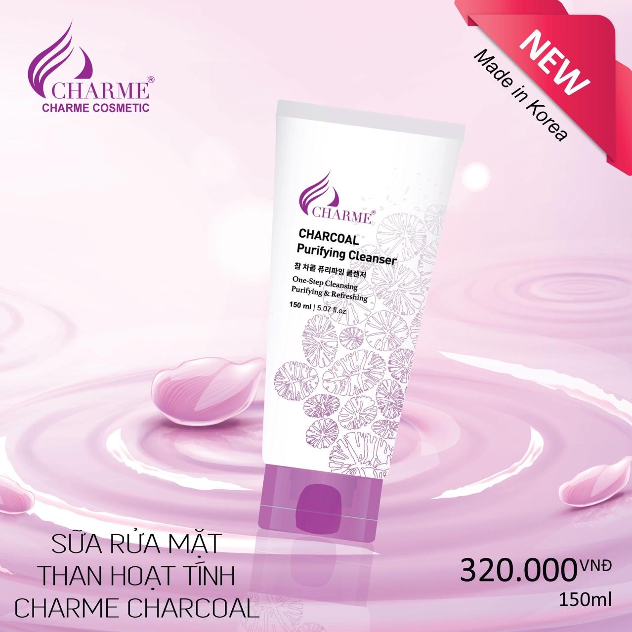 sữa rửa mặt than hoạt tính Charme Charcoal 150ml